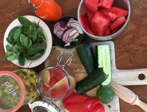 Fermented watermelon gazpacho with Jelena